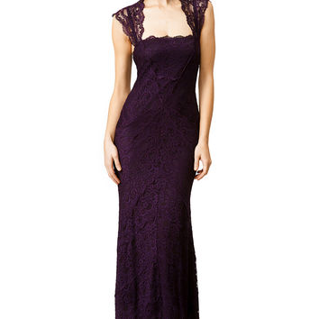 Nicole Miller Purple Horizon Gown
