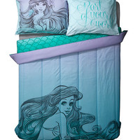 Disney The Little Mermaid Sketch Ombre Full/Queen Comforter