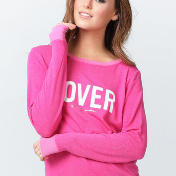 LOVER SAVASANA SWEATER KNIT PULLOVER MAUI PINK