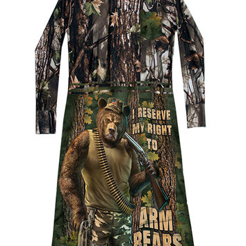 Right To Arm Bears Camo T-Shirt Dress