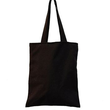 Cotton Tote Bag Grocery Tote Shopping Bag Foldable Eco-friendly Supermarket Reusable Handbags Shoulder Large Capacity Woman Bags