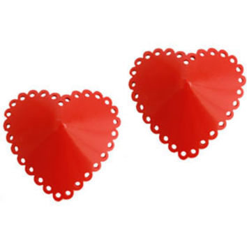 Couture Latex Heart Shaped Pasties | Atsuko Kudo