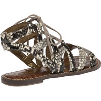 Sam Edelman Gemma Putty Snake Skin Gladiator Sandal - Jildor Shoes, Since 1949