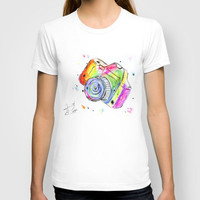 Watercolor Camera T-shirt by Trinity Bennett