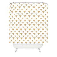 Allyson Johnson Glitter Triangles Shower Curtain