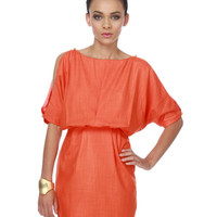 Aryn K Sudden Chill Orange Dress