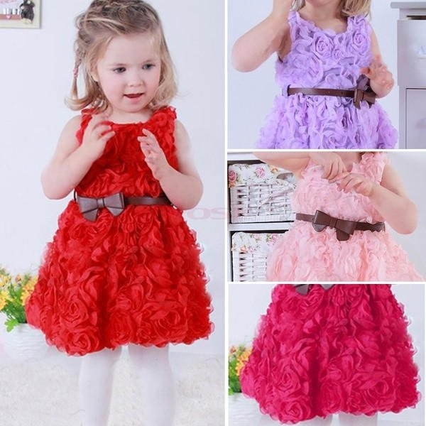 Baby Girls Toddler Kids Lace Rose Flower from Dear Deer Fashion