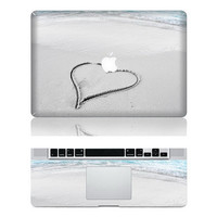 beach love macbook decal vinyl mac decal stickers for apple macbook 11 13 15 inch