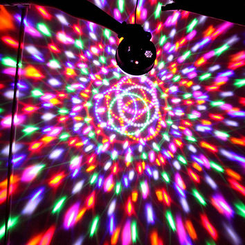 18W RGB LED projector DJ lighting mini stage light magical crystal disco ball light for party bars night clubs