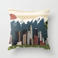 Los Angeles Throw Pillow by Sam Brewster