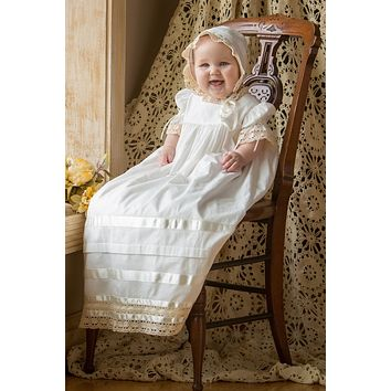 Quinn - Lace Christening Dress Heirloom