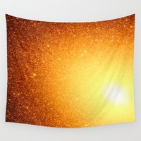Copper Stars Ombre Wall Tapestry by SimpleChic