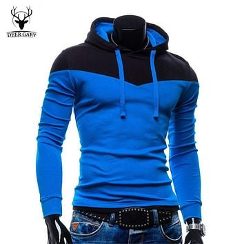 2015 New Arrival Fashion Men's Hoodies Patchwork Two Colors Napping Casual Men's Sweatshirts