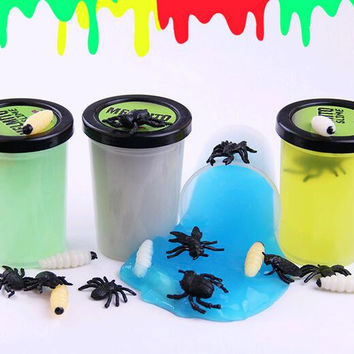 insects NEW luminous 120g barrel O Practical Joke trick Toys fun Slime Large Gag Prank Novelty Toy Cleaning Glue magic slimy
