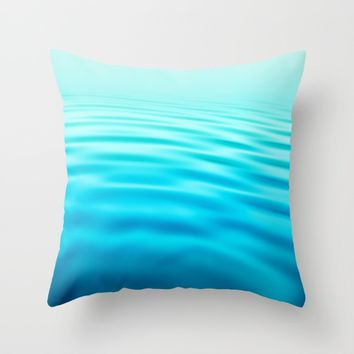 OCEAN ABSTRACT I Throw Pillow by Pia Schneider [atelier COLOUR-VISION]