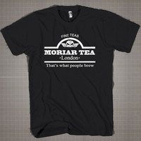 Funny novelty moriar tea  Mens and Women T-Shirt Available Color Black And White