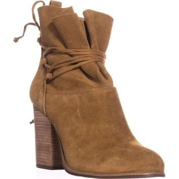 Jessica Simpson Satu Ankle Tie Slouch Ankle Boots, Honey Brown, 8.5 US / 38.5 EU
