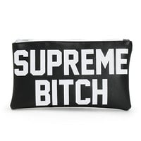 Married To The Mob Supreme Bitch Black & White Pouch