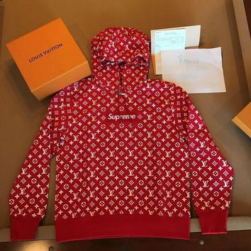 DCCKIN2 Supreme-x-Louis-Vuitton-LV-Hoodie-Red-Box-Logo-Size-L-NEW-DS-Large-Authentic-Pop