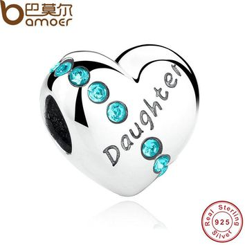 Daughter Heart Charms Fit  Bracelet