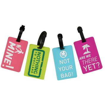 Xiniu New Suitcase Luggage Tags ID Address Holder Silicone Identifier Label #YW