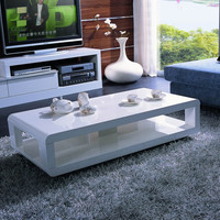 White Lacquered Coffee Table