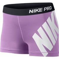 Nike Women's 3'' Pro Logo Compression Shorts