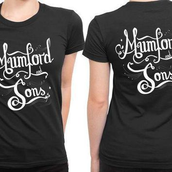 Mumford And Sons Title Typography Fan Art 2 Sided Womens T Shirt