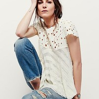 Free People Melba Short Sleeve Sweater
