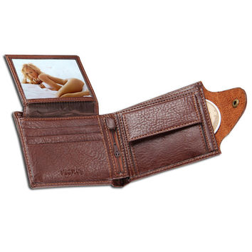 Leather wallet with coin pocket photo window men wallets quality guarantee zipper money bag hasp purse men small clutch