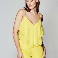 Jene Ruffle Romper at Guess