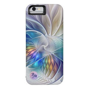 Floral Fantasy, abstract and modern, Monogram iPhone 6 Case