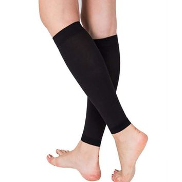 1 Pair Relieve Leg Calf Sleeve Varicose Vein Circulation Compression Elastic Stocking Leg Support For Womens 200 mmhg LM58