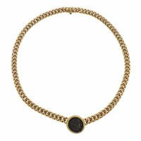 Bulgari Gold Ancient Coin Necklace