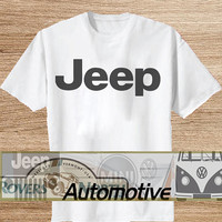 JEEP TShirt Tee Shirts Black and White For Men and Women Unisex Size