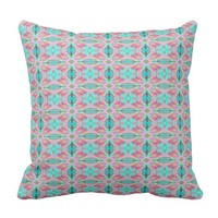 Colourful drawn pattern cushion