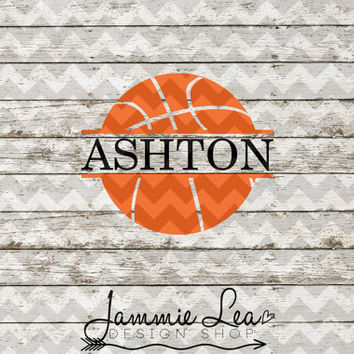 Basketball - Custom Name - You Pick Size - Vinyl Decal Sticker