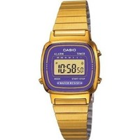 Casio #LA670WGA-6 Women's Gold Tone Chronograph Alarm LCD Digital Watch