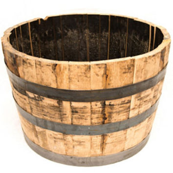 Half Oak Whiskey Barrel Planter - For Life Out Here