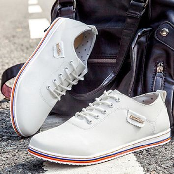 2018 Spring Men Shoes casual PU Leather sneakers mens High Quality Brand sneaker tenis Shoes for Men zapatos de hombre
