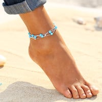 Jewelry Turquoise Beads Boho Anklets for Women Chaine Beach Vacation Bohemian