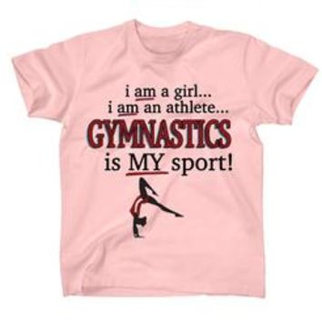 AFONiE Gymnastics Is My Sport Kids T-Shirt