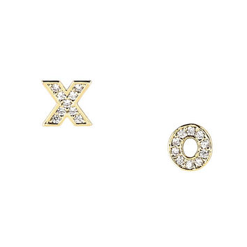 Pave XO Earrings