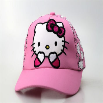 Cute Hello Kitty embroidered cap Hat