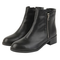 Double Side Zip Ankle Booties