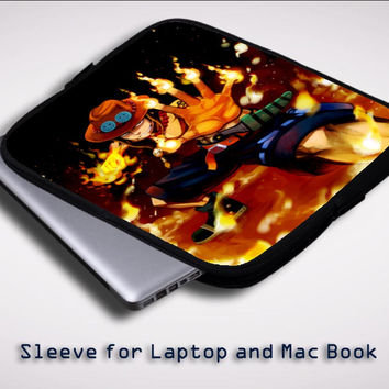One Piece Portgas D Ace Fire Cool  Z0660 Sleeve for Laptop, Macbook Pro, Macbook Air (Twin Sides)