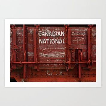 Red Wagon Art Print by Claude Gariepy
