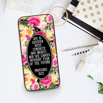 Inspirational Christian Phone Case - Proverbs 31