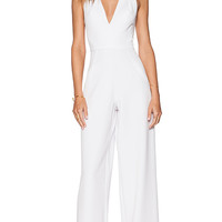 Black Halo Jordan Jumpsuit in White