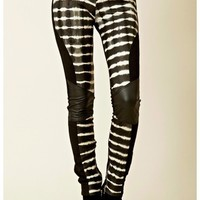 Shakuhachi - Tie Dye Leather Biker Pant